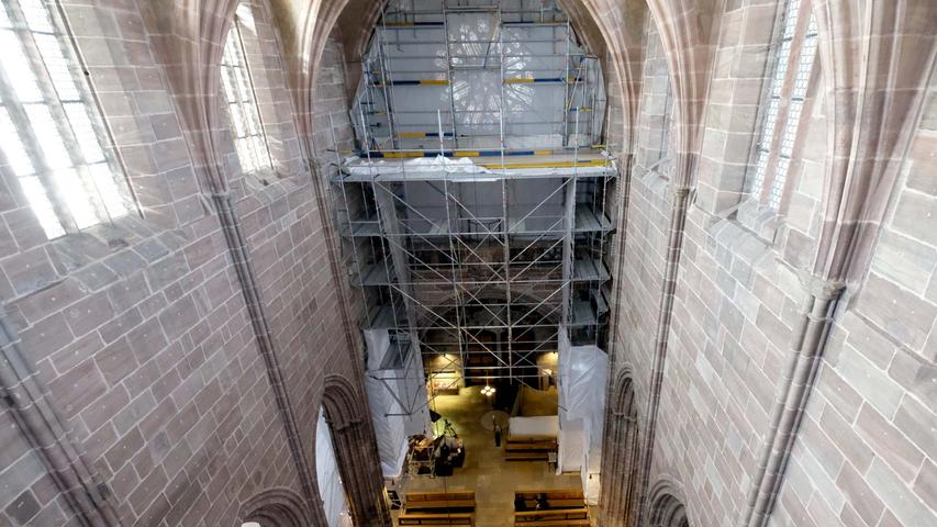 Baustelle Lorenzkirche: So sieht es aktuell im Nürnberger Wahrzeichen aus