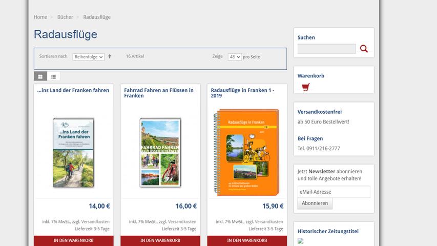 Auf den Geschmack gekommen? Weitere Vorschläge für Radtouren in Nürnberg und Umgebunggibt es bei uns im Zeitungsshop.