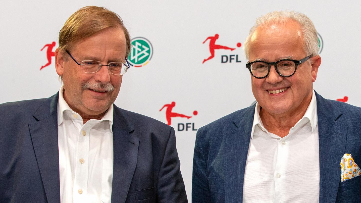 Rainer Koch (links) und Fritz Keller im Jahr 2019. Damals haben sie sich offenbar noch besser verstanden.