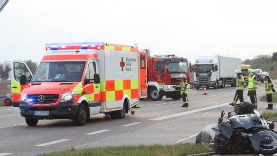 Rettungshubschrauber im Einsatz: Biker im Landkreis Ansbach verletzt