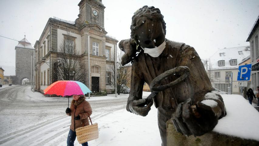 Standhaft: Auch im Winter forscht der berühmteste Höchstadter, der Amazonasforscher Johann Baptist Ritter von Spix an dem Papageien-Ei.