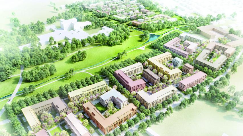 So soll das neue Wohngebiet am WetzendorferLandgraben aussehen.