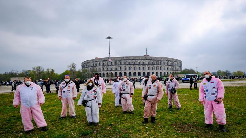 Nürnberg; 01.05.2021; Bikertreffen;  Volksfestplatz;  Foto: Günter Distler