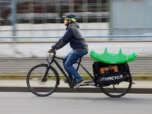 Drahtesel als Lastesel: Auch ein Longtail bietet gute Transportmöglichkeiten.