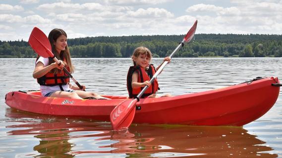 Flucht vor Corona: Mit dem Kanu auf dem Brombachsee