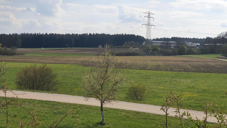 Der Wiesengrund zwischen Postbauer-Heng und Ezelsdorf in Blickrichtung Gewerbegebiet Espenpark: nach Plänen der Deutschen Bahn ein möglicher Standort für das rund drei Kilometer mal 450 Meter messende Gelände für ein ICE-Instandhaltungswerk.