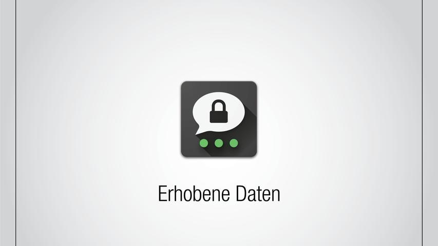 Bei der Registrierung müssen keine Handynummer und keine Mailadresse angegeben werden. Threema arbeitet hier stattdessenmit einer zufällig generierten ID, die Nutzer bei der Erstanmeldung erhalten. Profilname und Foto können Nutzer angeben, müssen es aber nicht. Es ist zudem nicht nötig, den Zugriff auf die im Smartphone gespeicherten Kontakte zu erlauben. Gibt der Nutzer die Daten an oder gewährt den Zugriff auf die Kontakte, dann werden diese