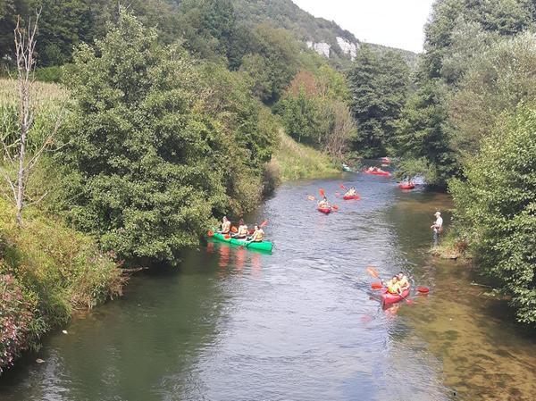 Kajak fahren auf der Wiesent ist sehr beliebt – so beliebt, dass die Massen von Bootsfahrern zu einem Problem für Flora und Fauna werden.