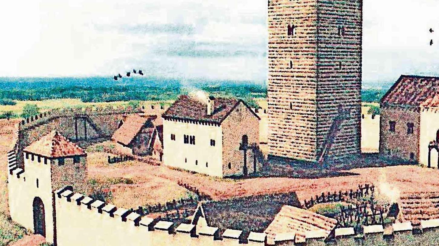 So könnte die Burganlage in Thurndorf früher ausgesehen haben. Der Ort wurde vor 900 Jahren erstmals urkundlich erwähnt. Wie und ob gefeiert wird, ist wegen der Pandemie noch unklar.