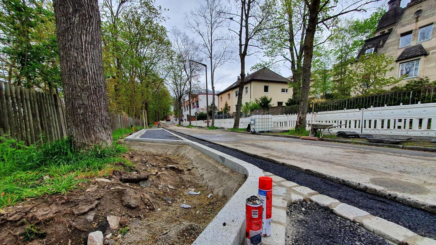 Die auf die andere Straßenseite verlegten Parkstreifen am Wasserschutzgebiet und die Arbeiten nahe an den vorhandenen Bäumen sorgen für Diskussionen.