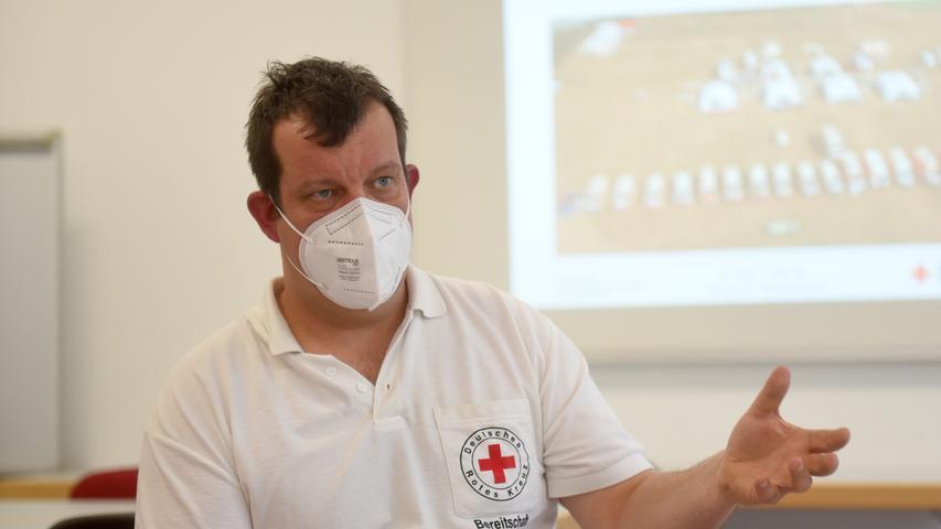 Tobias Seeser leitet die Pegnitzer BRK-Bereitschaft verantwortlich.