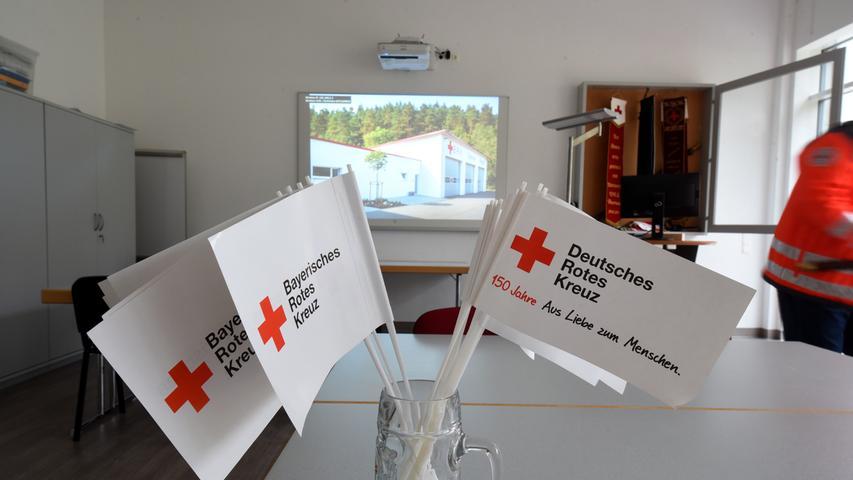 Neben einem kleineren gibt es im Dienstgebäude am Dianafelsen auch noch einen großen Schulungsraum.