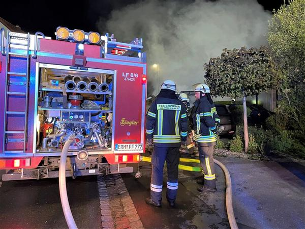 Die Feuerwehren aus Hammerbach und Herzogenaurach sowie die Kreisbrandinspektion waren vor Ort.