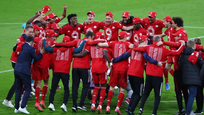 Neunter Meistertitel in Folge! So feiern die Bayern