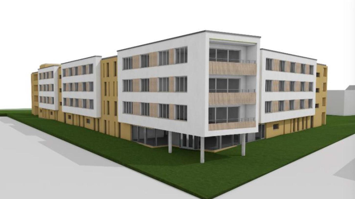 So soll die neue Wohn- und Förderstätte an der Friedrich-Ebert-Straße in Roth einmal aussehen. 2023 soll der Betrieb aufgenommen werden, das bisherige Gebäude wird abgerissen.