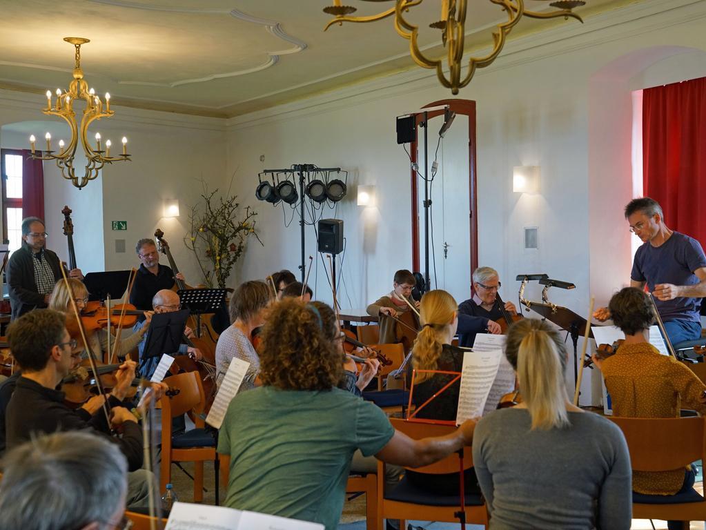 Ipsheim, Burg Hoheneck, Musikwoche, Probe, Projektwoche, Werkstattkonzert, Konzert Foto: Elke Walter