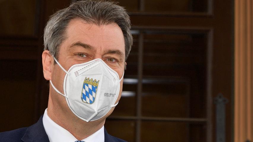 Söder kündigt Lockerungen an: FFP2-Pflicht soll in Bayern fallen