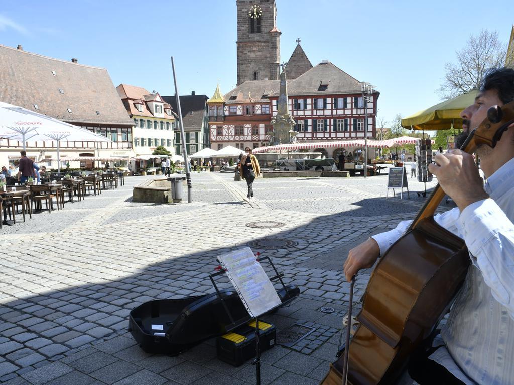 Foto: Paul Götz Biergarten- und Außengastro-Öffnung Schwabach & Schaftnach 10.05.2021
