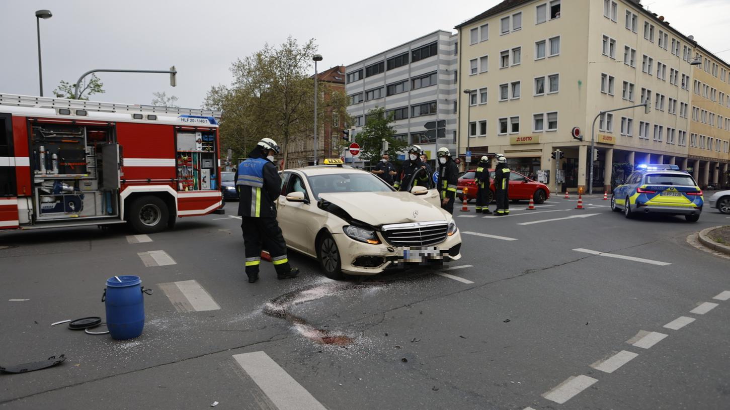 Am Montagabend kam es im Kreuzungsbereich Fürther Straße Kernstraße zu einem Verkehrsunfall.