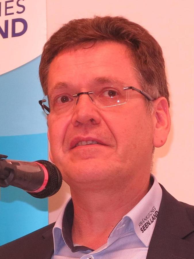 Hans-Dieter Niederprüm vom Tourismusverband Fränkisches Seenland.