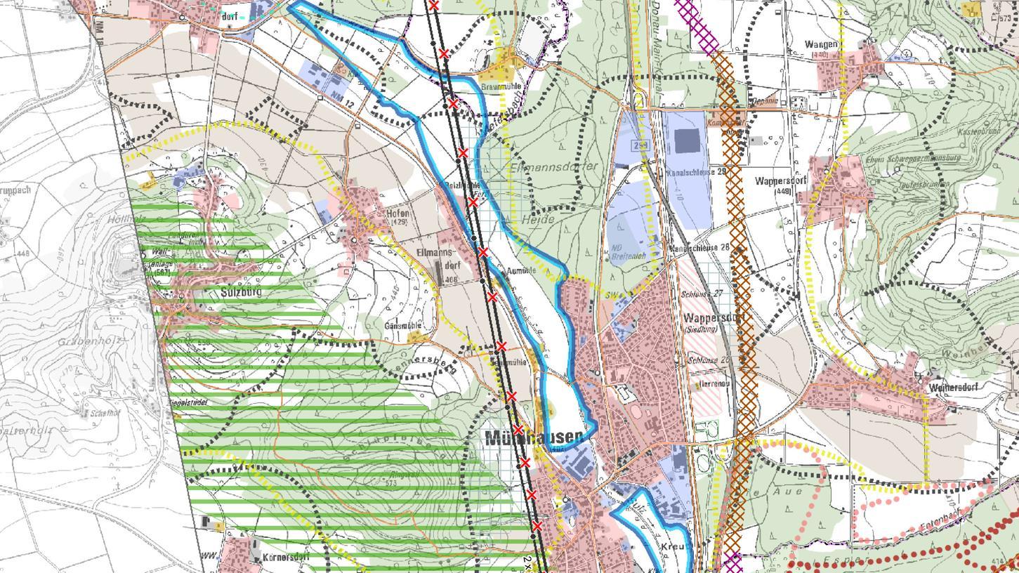 So soll die Trasse bei Mühlhausen verlaufen.