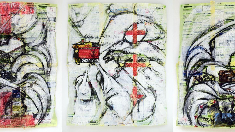 Rote Kreuze als Brückenschlag zu den Themen, die Joseph Beuys in seinen Werken verarbeitete: Corinna Smok hält die Kunst des Krefelders für zeitlos aktuell.