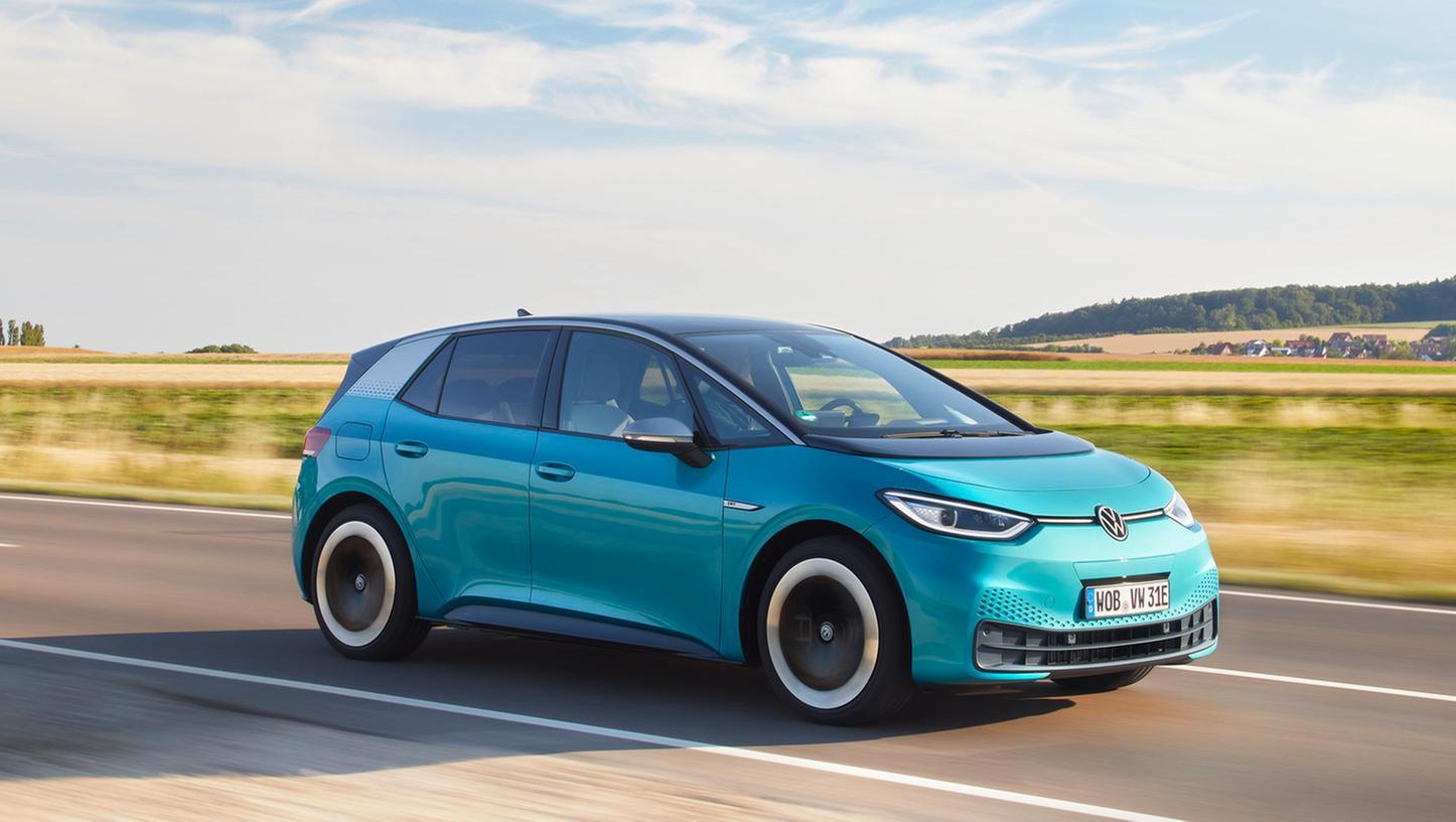 VW ID.3: Drei Akku-Größen - 45, 58 und 77 kWh - stehen zur Wahl.