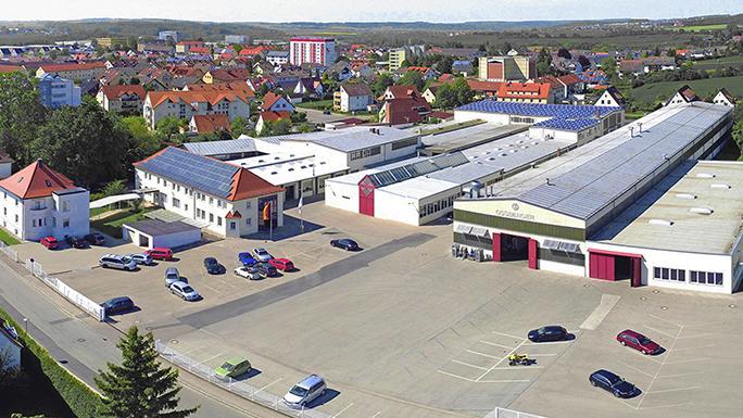 Luftbild der Firma Ossberger