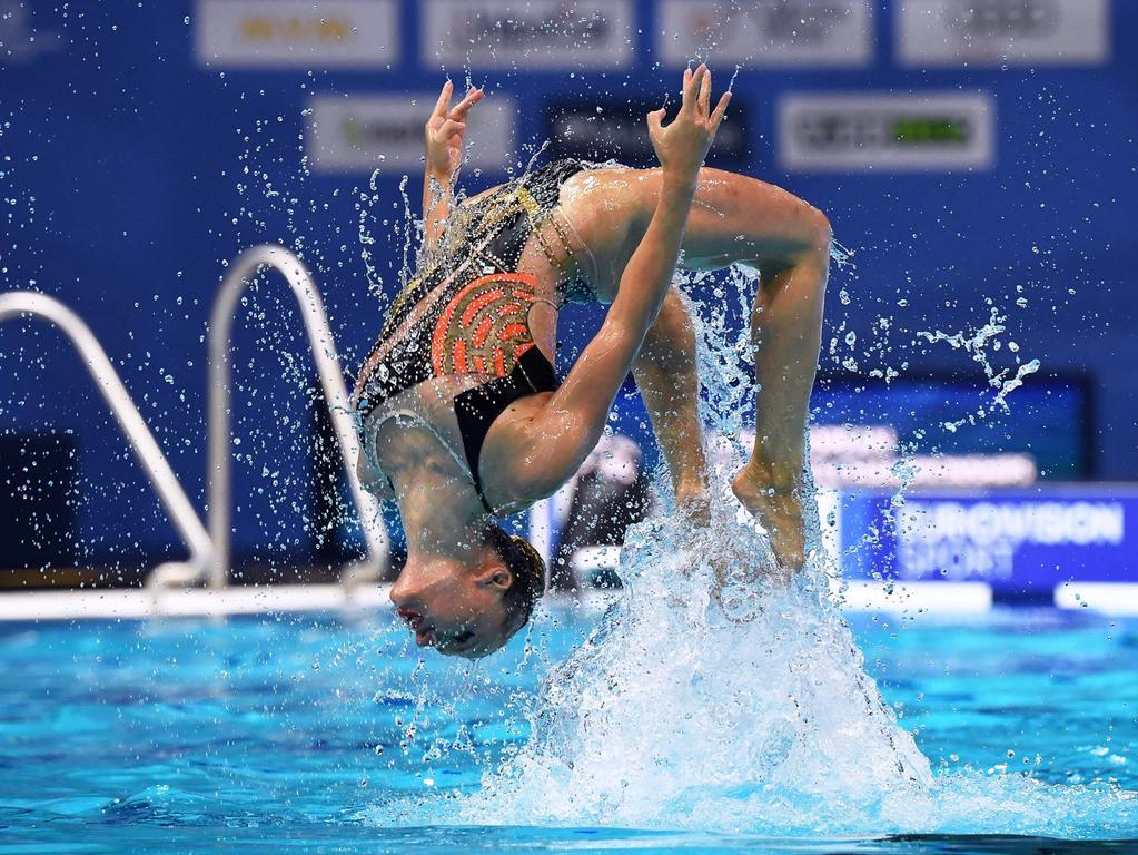 Tollen Sport und spektakuläre Bilder gab es bei der Europameisterschaft im Synchronschwimmen. Den Titel sicherte sich die Ukraine vor Spanien und dem Team aus Israel (Bild).