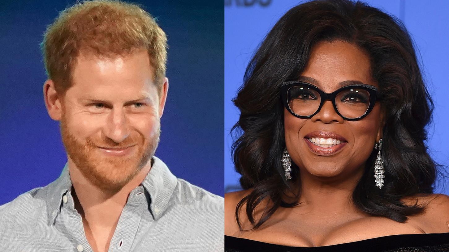 Oprah Winfrey und Prinz Harry: haben gemeinsam eine Doku-Serie zu Themen psychischer Gesundheit entwickelt.