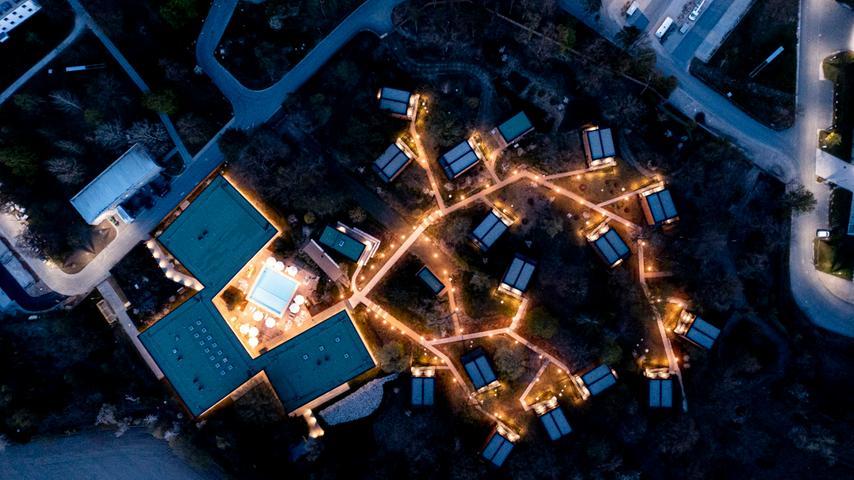 Drohnenbild auf den Home Ground, dem Quartier der deutschen Nationalmannschaft.