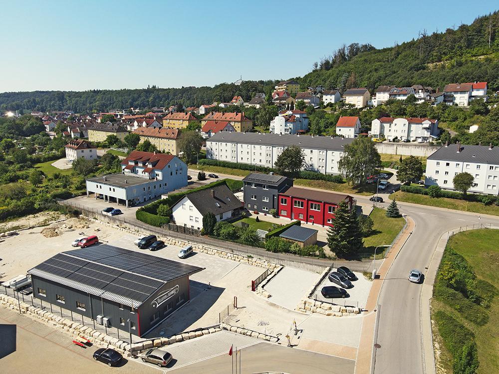 Luftaufnahme der Firma Auto Felleiter & Schmidt GmbH