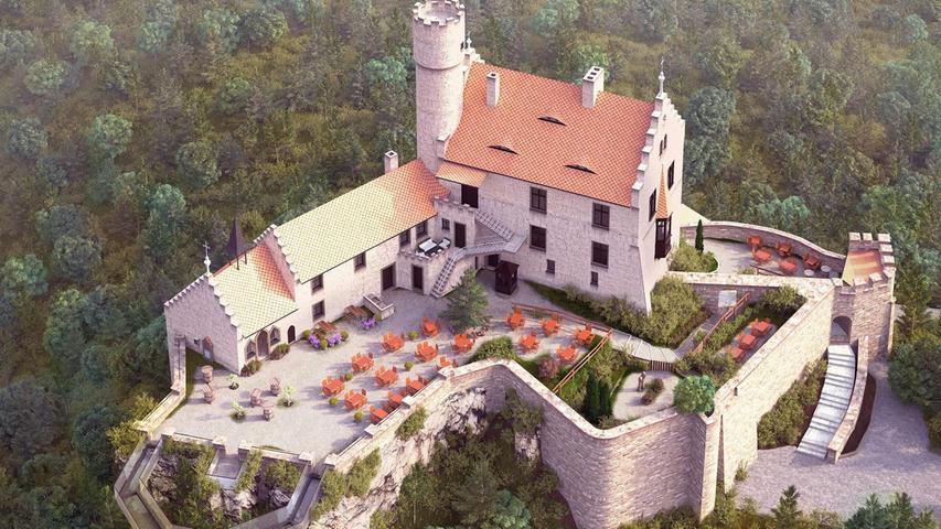 Burg Gößweinstein: Schänke, Castelwalk und im Ort eine Rösterei