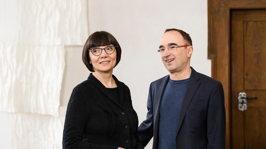 Die Nürnberger Kulturpreisträgerin Pia Praetorius und ihre Mann Wolfgang Kropp.
