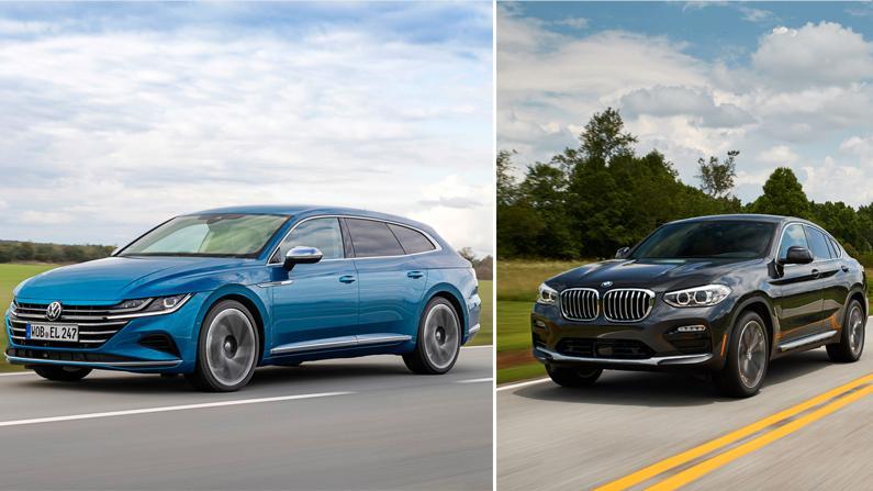 VW Arteon Shooting Brake, BMW X4: Beide Kandidaten wollen mit Platz und Lifestyle-Attitüde punkten.