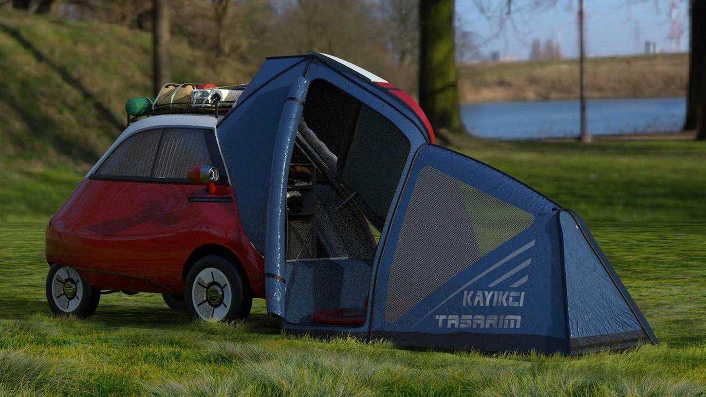 Platz ist in der kleinsten Hütte: Microlino Camper Concept.