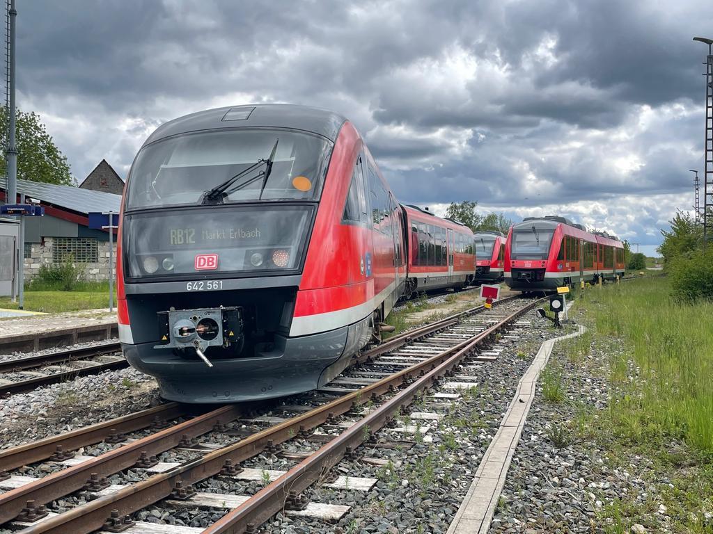 Zugentgleisung in Markt Erlbach am 23. Mai 2021.