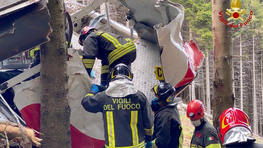 Seilbahnunglück mit 14 Toten in Italien: Ermittlungen zur Ursache laufen