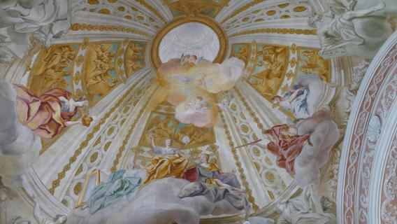 Pfingstbild in der Michelfelder Pfarrkirche 300 Jahre alt