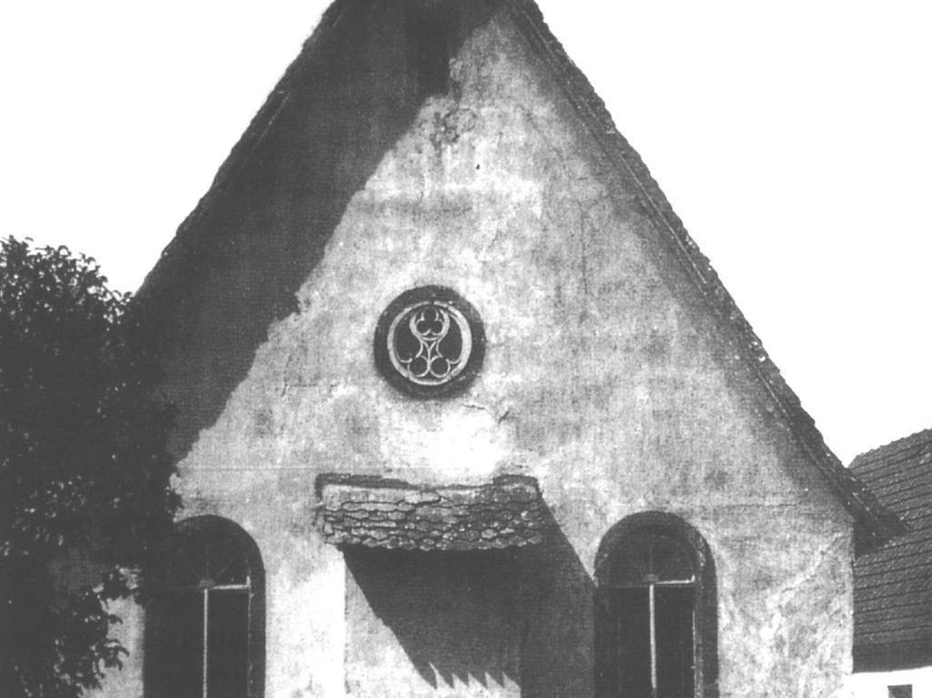 Die heute nicht mehr existierende Synagoge von Hagenbach, früher Mittelpunkt der jüdischen Gemeinde.