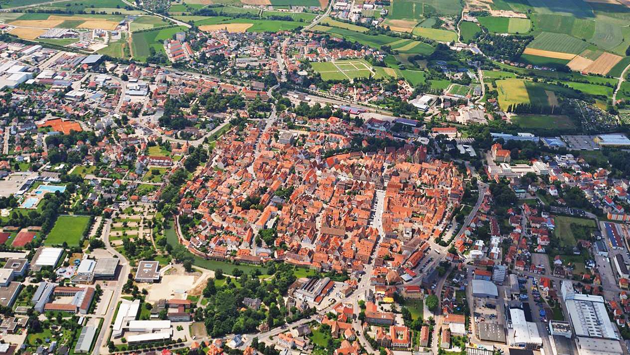 Luftaufnahme der Stadt Weißenburg i.Bay.