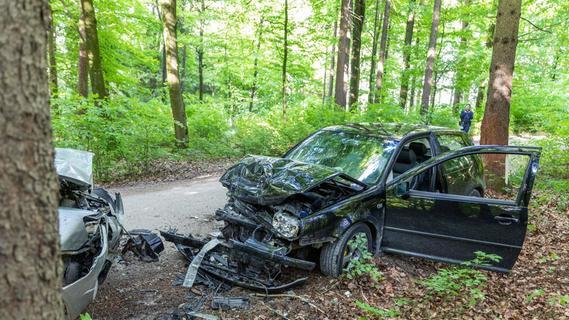 Kollision im Wald: Fahranfänger stieß mit Treuchtlinger frontal zusammen