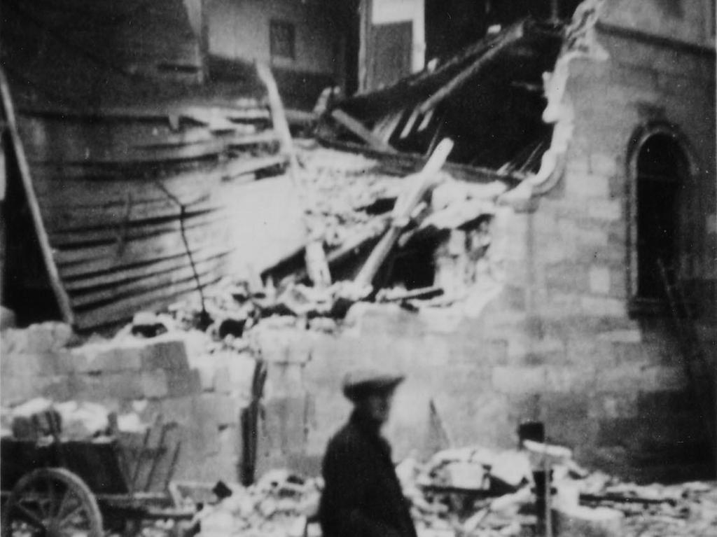 Ressort: Forchheim..Foto: Julius Brunner..Motiv: Synagoge Forchheim, 10.Nov.  1938..Datum: 10.11.38 Synagoge; Juden; Kultur; Franken; historisch Reichspogromnacht