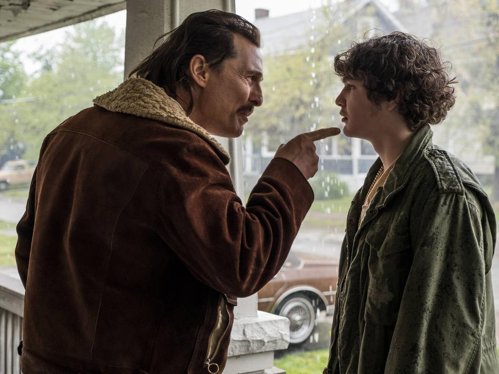 RELEASE DATE: September 14, 2018 TITLE: White Boy Rick STUDIO: DIRECTOR: Yann Demange PLOT: The story of teenager Richard Wershe Jr., who became an undercover informant for the FBI during the 1980s and was ultimately arrested for drug-trafficking and sentenced to life in prison. STARRING: RICHIE MERRITT as Richard Wershe Jr, MATTHEW MCCONAUGHEY as Richard Wershe Sr. Cleveland U.S.  - ZUMAl90_ 20180914_sha_l90_588 Copyright: xColumbiaxPicturesx