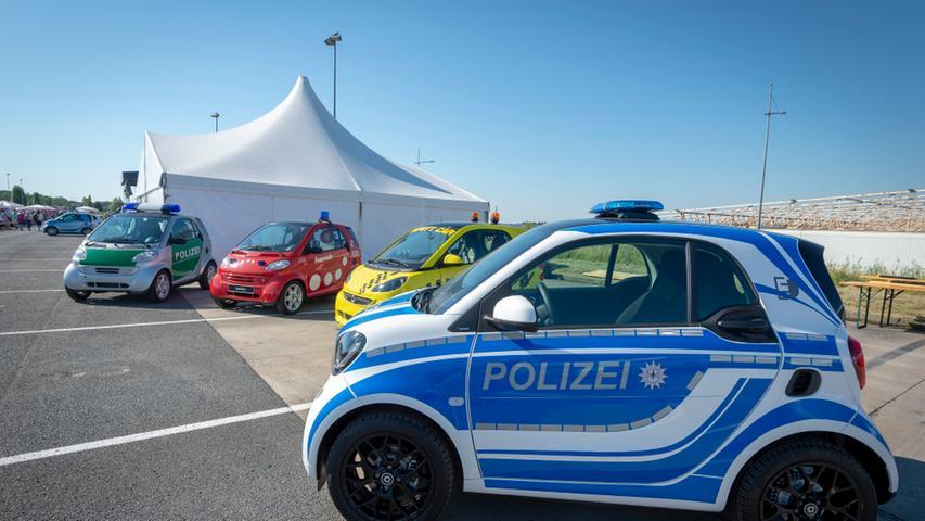 Als der Smart im französischen Hambach sein 20-jähriges Jubiläum feierte, war er auch im Polizei-Gewand zu sehen.