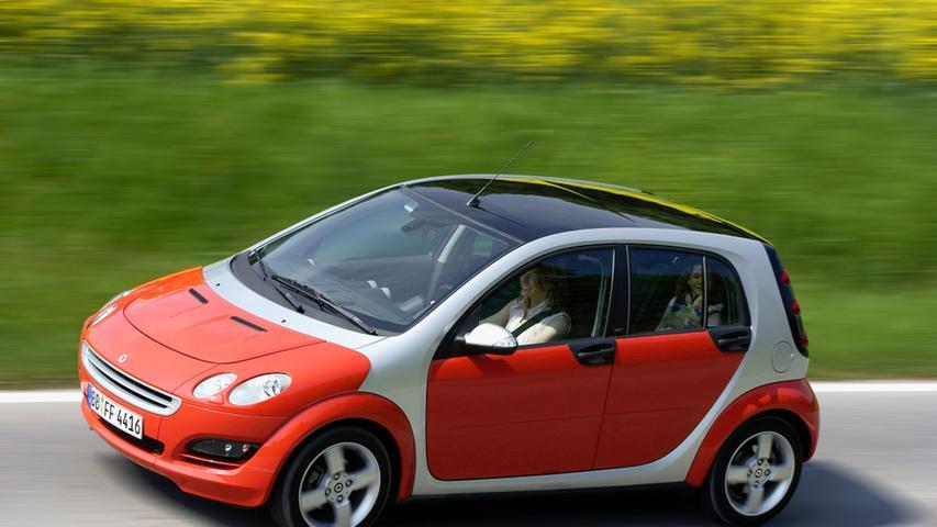 Mit dem viertürigen Smart forfour wuchs der Zweisitzer 2004 über sich hinaus.