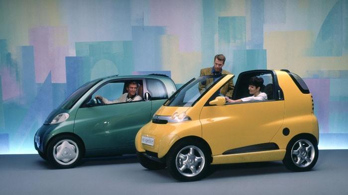 Das Smart Micro Car gab seinerzeit einen ersten Ausblick.