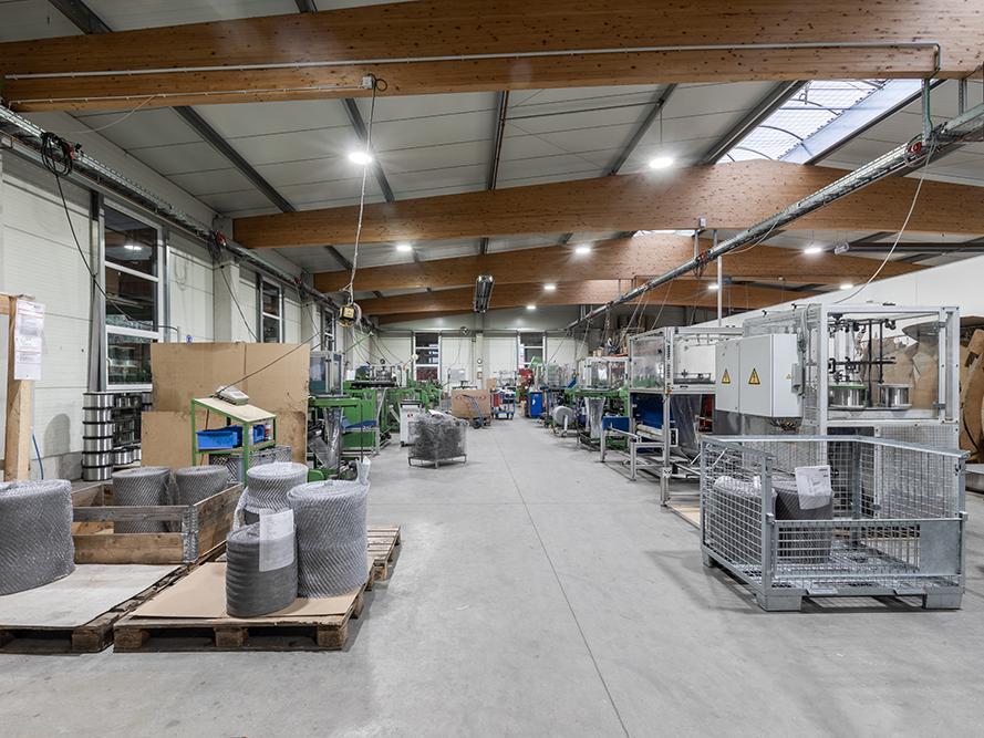 Produktionshalle der DGS Drahtgestricke