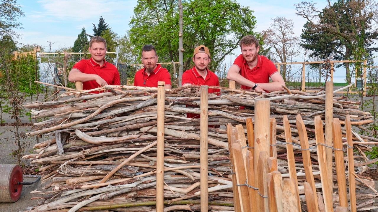 Viel Lob erhielten Martin Meier, Hartmut Krüger, Paul Opiela und Dominik Bauer von Garten- und Landschaftsbau Weißmüller für ihren Themengarten auf der Landesgartenschau in Lindau.