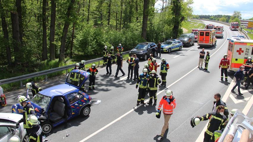 Hubschraubereinsatz: Drei Schwerverletzte nach Unfall im Nürnberger Land